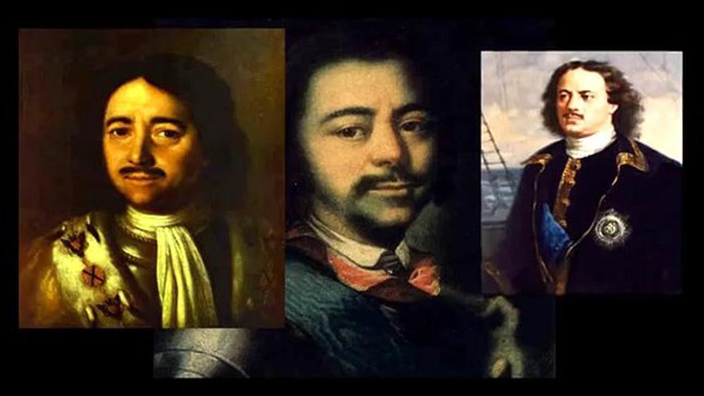 Пётр I и его двойник вместо него